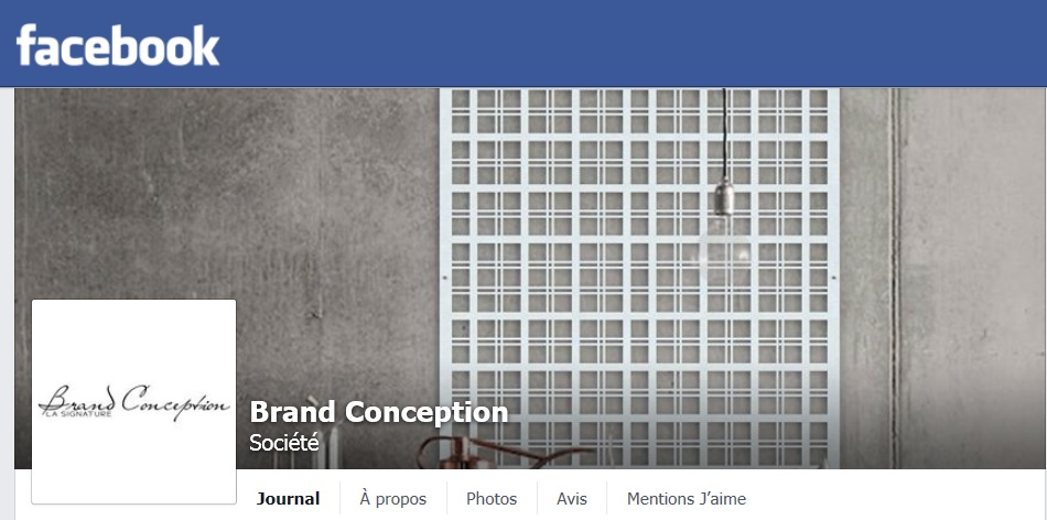 Page Facebook Brand Conception