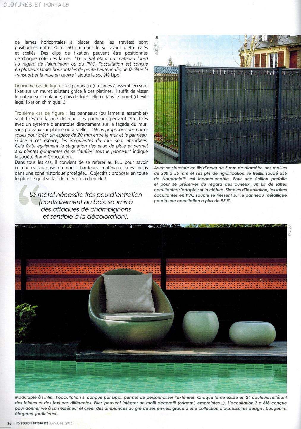 brand conception article presse profession paysagiste panneaux m talliques. Black Bedroom Furniture Sets. Home Design Ideas