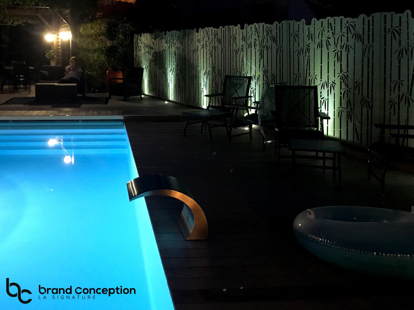 Brand conception fargesia autour de la piscine for Conception piscine