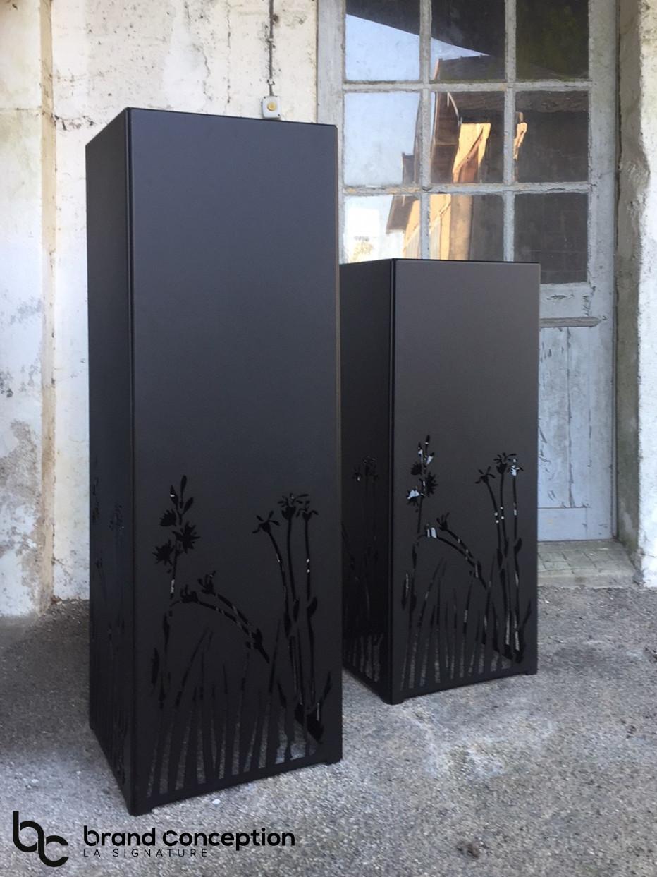 Jardinière en aluminium filao