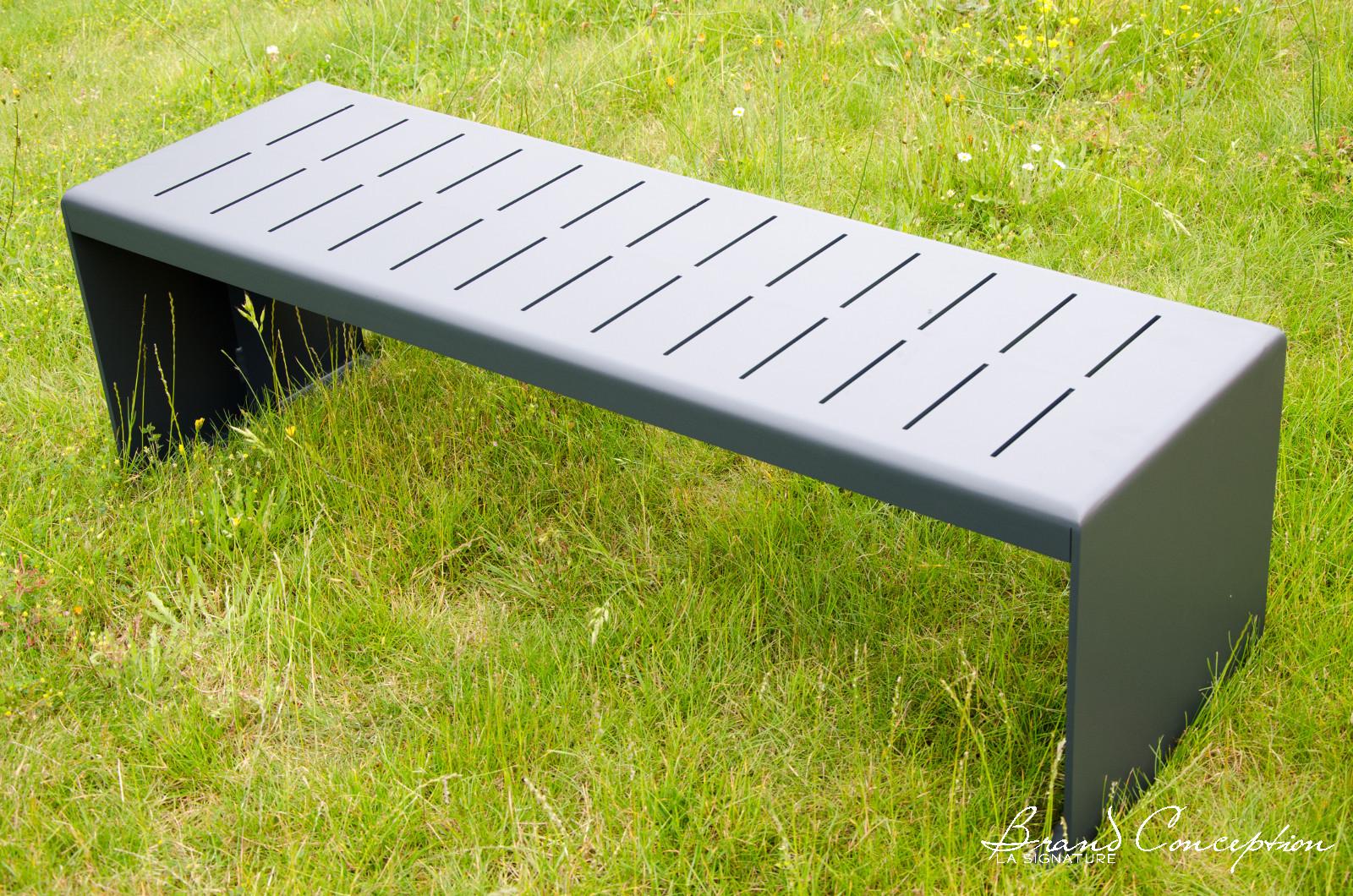 brand conception bancs aluminium pour collectivit. Black Bedroom Furniture Sets. Home Design Ideas