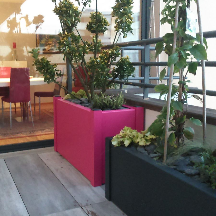 Fleurs de jardini re fashion designs - Jardiniere exterieure en aluminium ...